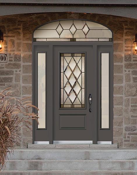 Porte de fibre de verre gothic portes nadeau for Porte novatech