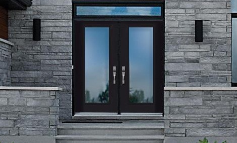 Porte d 39 acier verre clair portes nadeau for Porte novatech