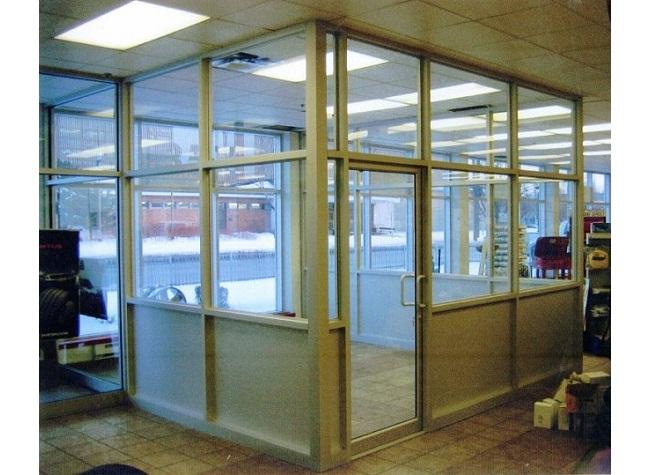 Portes d'aluminium vitrées de la série 1780 de Vertech